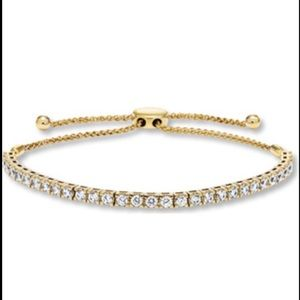 Diamond Gold Bolo Bracelet